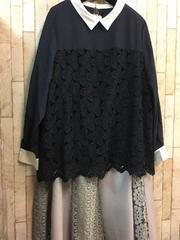 新品☆5Lサイズお出かけきれいめブラウス&スカート☆b596