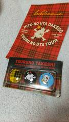 つるの剛士LIVE TOUR 2009 缶バッジ レッド