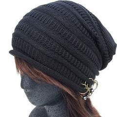 帽子♪リング付き ルーズ ニットキャップ ワッチ*ニット帽