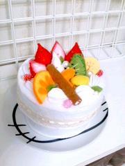 ハンドメイドフェルトケーキの『小物入れ』 フルーツ