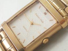9393/FutureClub★天然1ポイントダイヤゴールドモデルメンズ腕時計
