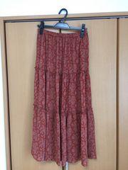美品  UNIQLOの素敵な総柄ロングスカート M