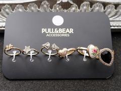 新品ZARA PULL&BEAR アンティーク調ゴシックリング指輪6本set