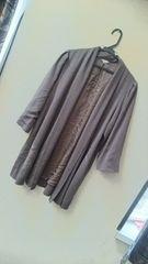 日本製☆大きいサイズ//和絞り柄上質仕上げサラサラゆったりガウン羽織り