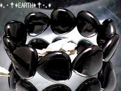天然石★ブラックハート黒瑪瑙オニキス16ミリ