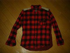 カシュカCASHCAブロックチェックシャツM赤黒ENGLAND
