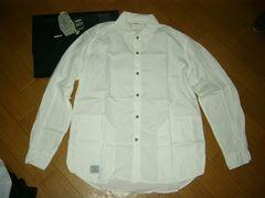 ネイバーフッドNEIGHBORHOODストライプシャツ3白光沢薄手