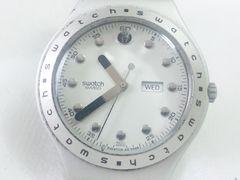6259/SWitchスウォッチ稀少な軽量アルミニウムデイデイト★純正ブレス装着品