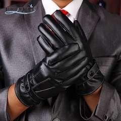 手袋 メンズ 革手袋 レザー グローブ スマホ手袋 ブラック