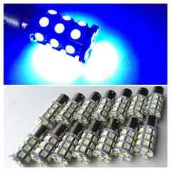 24V用 LED S25 シングル球 27連 14個 ブルー 青 マーカー