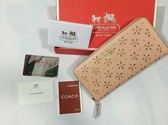 新品  COACH F53868 財布 アウトレット ラウンド 長財布