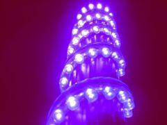超発光/防水 LEDチューブ 72�p パープル/紫