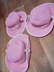 ミキハウスメッシュ生地ピンク2WAY帽子カウボーイハット48サイズ