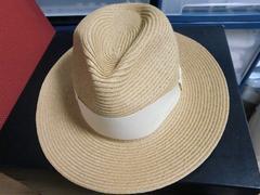 新品セシルマクビー購入リボン使いラメ入り中折れハット帽子