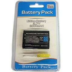 【パッケージ品】3DS 2000mAh 大容量互換バッテリー 工具セットa