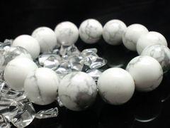 ハウライト14ミリ§ハウ石数珠