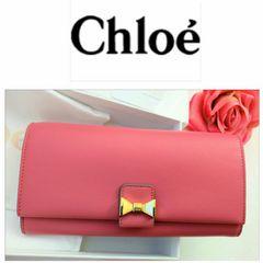 Chloe 長財布 セール 定7.8万 新品 甘色可憐 憧れ魅惑の逸品