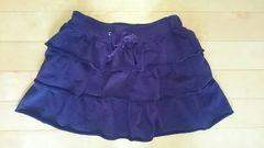 紫 ミニスカート フリル