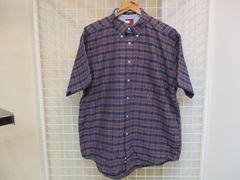 TOMMY HILFIGER メンズ半袖カジュアルコットンシャツ XL 美品