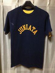 ヴィンテージ チャンピオン バータグ リバーシブル 半袖Tシャツ Sサイズ 紺×黄 USA製