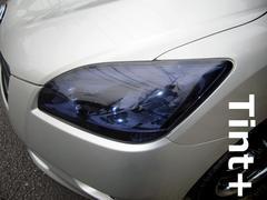 Tint+水洗→再利用OK マークX ジオ ヘッドライト スモークフィルム