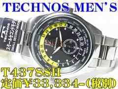 テクノス 紳士クォーツ T4378SH 定価¥33,334-(税別)