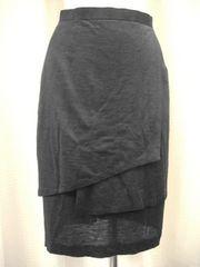 【アルファキュービック】黒の麻スカートです