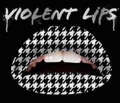 3g7)ViolentLipsバイオレントリップス白黒千鳥格子タトゥーシール唇B系メイク口紅