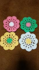 可愛い お花のコースター 4枚セット