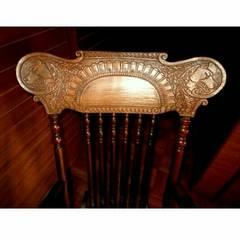 狼 木彫り ロッキングチェア インテリア イス 椅子 いす チェア
