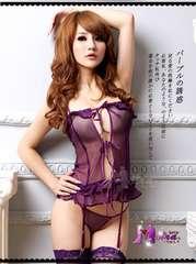 1スタ●ガーター付ランジェリー●コスプレ●183紫