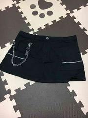 100スタ★黒ミニスカート★シンプル