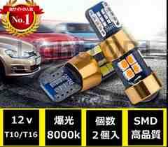 ポジション球☆8000k☆LEDバルブT10/16! 19連プロジェクター