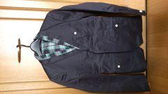 訳あり激安84%オフロペ、ジャケット、フード付(美品、紺、L)