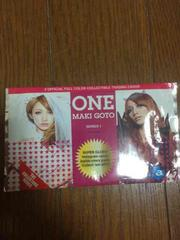 後藤真希 CD購入特典カード 新品未開封