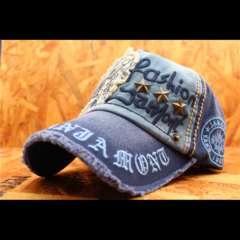 送料無料 ダメージ加工 ベースボールキャップ・帽子 JMC6-8