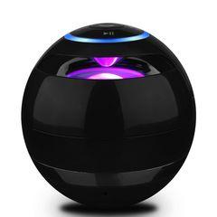 【品薄】Bluetoothスピーカー 多色ライト 高音質 黒