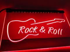 LED看板 ネオンプレート サイン Rock & Roll Guitar Music