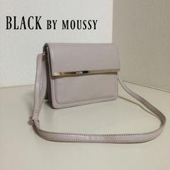 BLACK by moussy ゴールドバーショルダーバック