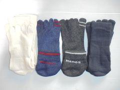 Hanes ヘインズ他靴下ソックス5本指付き20cm×2 23cm×3各種新品