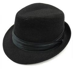 限定/高級ウール100%/中折タイ巻き/BLACK.HAT
