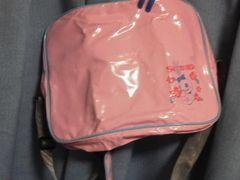 スティッチピンク新品スクランプスクールバッグ ショルダーバッグ