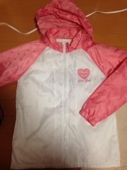 ピンク×白☆ウインドブレーカー☆ドット柄