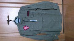 激安81%オフアウトドア、ワッペン、長袖シャツ(新品タグ、カーキ、M)
