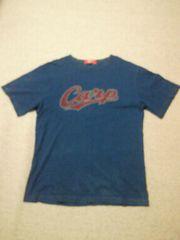 プロ野球 広島東洋カープ デニム デザイン Tシャツ ネイビー Oサイズ