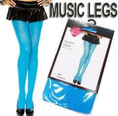 A8A)LA発MusicLegsオペークタイツターコイズダンスダンサー衣装B系セレブストッキング