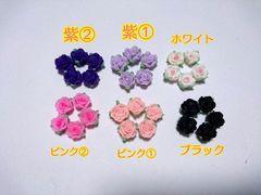 処分☆樹脂薔薇 12�o ブラック 10個 デコパーツ