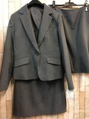新品☆9号2種類のスカート付♪洗えるグレーのスーツ☆g824