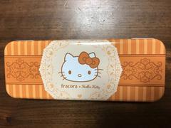 ハローキティ Hello Kitty 缶ペンケース キティちゃん オレンジ