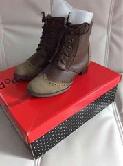 ショートブーツ ブラウン 茶色 20cm 新品未使用